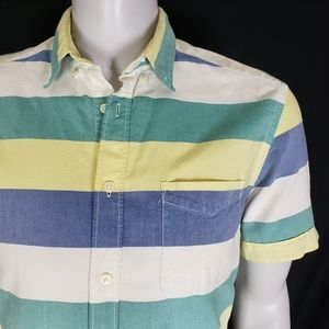 L.O.G.G Mens Striped Button Shirt Size Medium